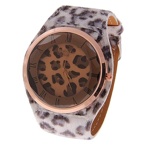 BODHI Women Besar Macan Tutul Leatheroid Strap QUARTZ Wrist Watch