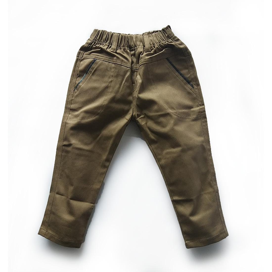 Vigomall Celana anak laki laki usia 9 bln - 10 tahun warna coklat celana panjang anak laki laki chino anak laki laki anak cowok