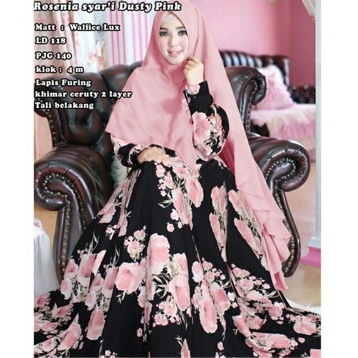 BEST SELLER  Rosenia Jumbo / BAJU GAMIS murah/ BAJU SYARI ORIGINAL /  Baju Muslim Wanita / Gamis Maxi Dress