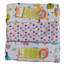 Jelova Angela 3pcs Bedong Baby Bayi Velvet Premium Quality SNI Standart - 1pack GIRLS