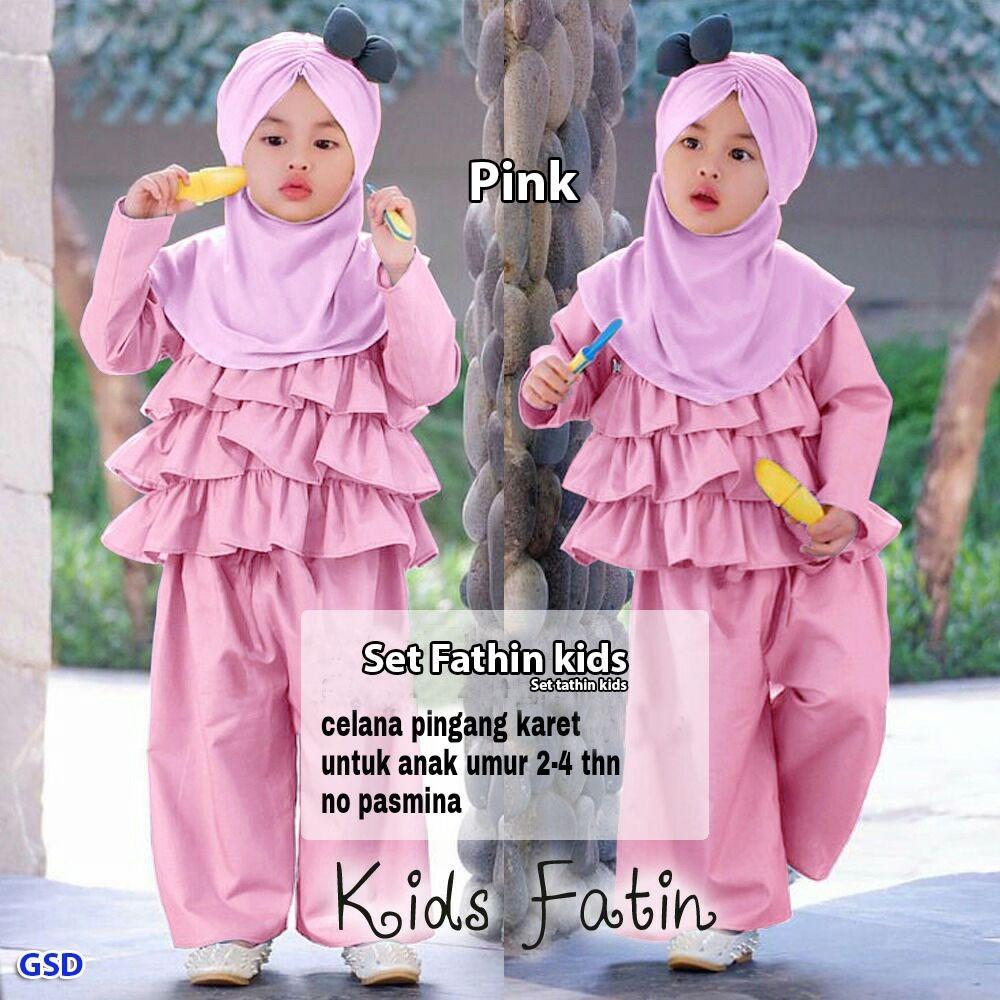 GSD - Baju Anak / Baju Anak Cewek / Baju Muslim Anak / Set Tahtin Kids