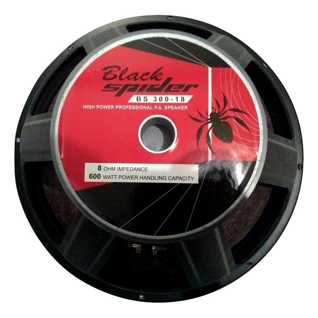 Speaker Black Spider 18in Type BS30018 Voice Coil Magnet Besar Low