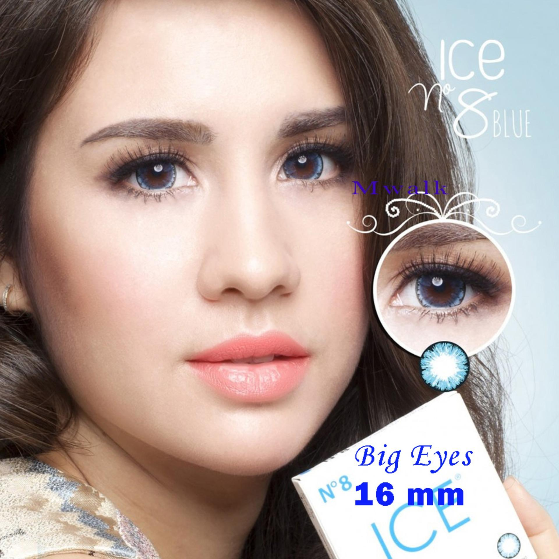 X2 Ice Nude N8 Softlens – Blue + Free Lenscase