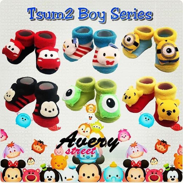 OBRAL Kaos Kaki Anak TsumTsum Avery Street Baby Socks for Boys Tsum Tsum TERMURAH