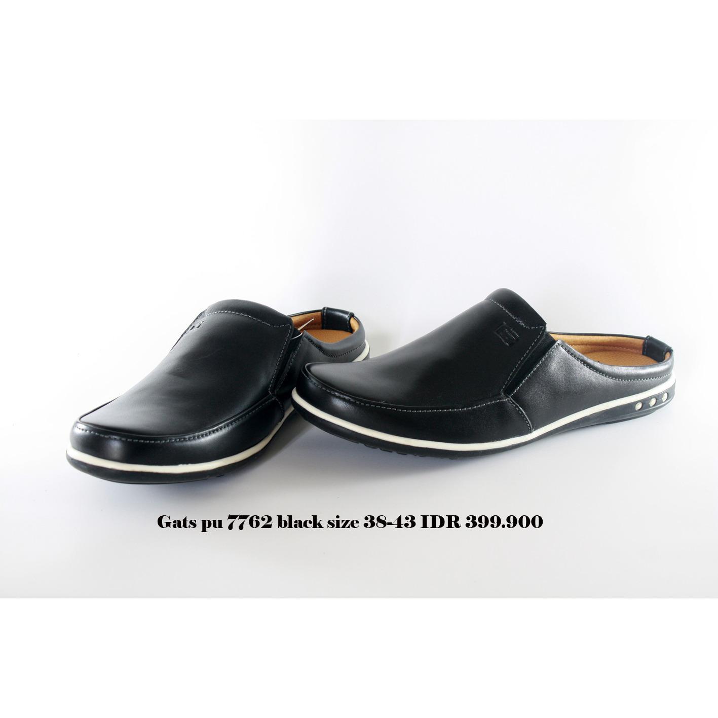 gats pu 7762 sepatu bustong pria hitam