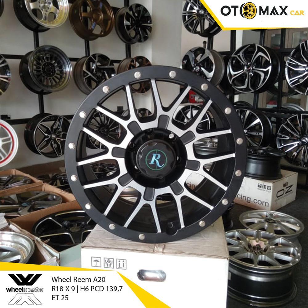 Velg Mobil Wheels Reem (A20) Ring 18 Matt Black Polish