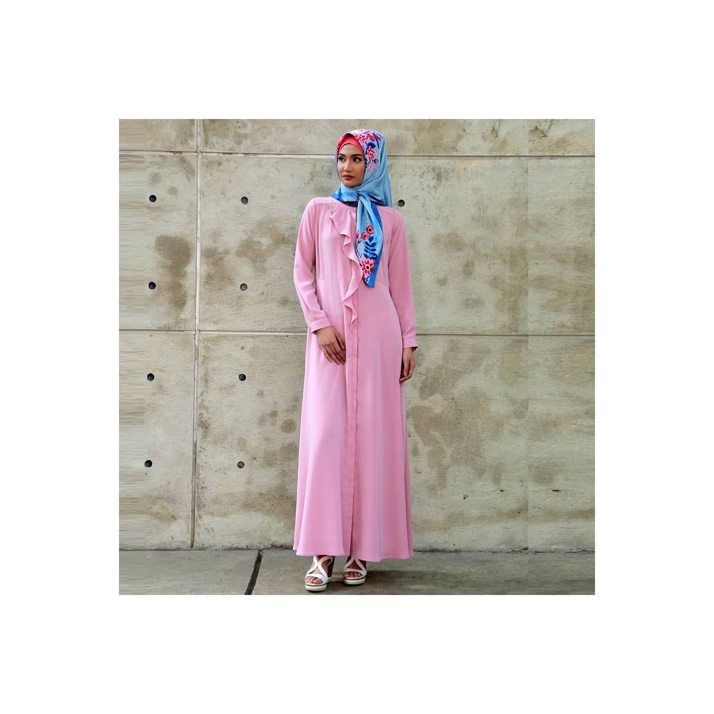 Zoya Dress Gamis Muslimah Cantik - Melodie Dress - Merah Muda, L