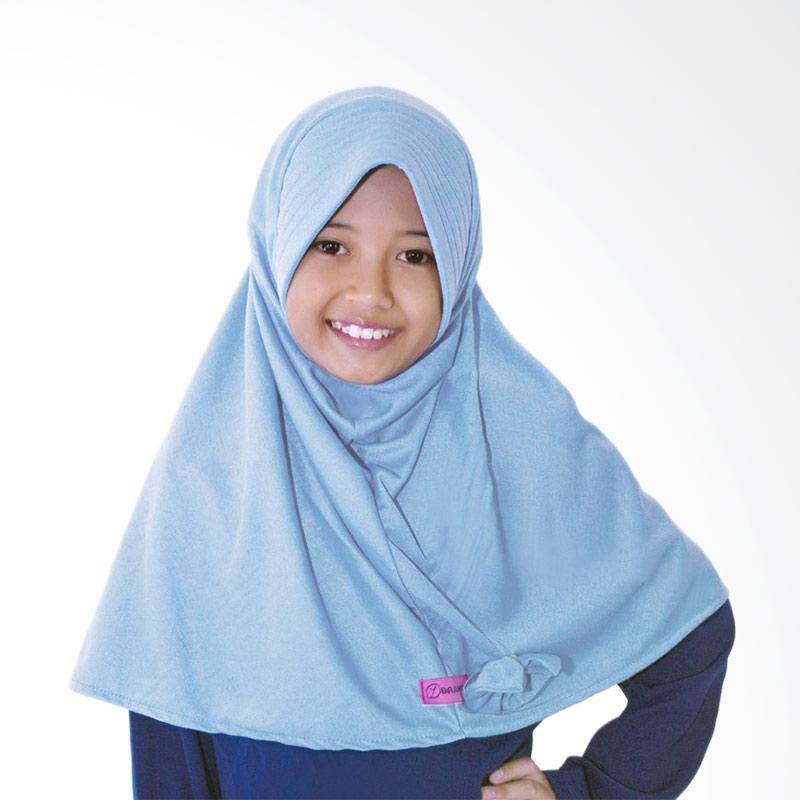 Baju Muslim Kerudung Polos Pita Cantik Jilbab Anak - Biru Baby | Terlaris