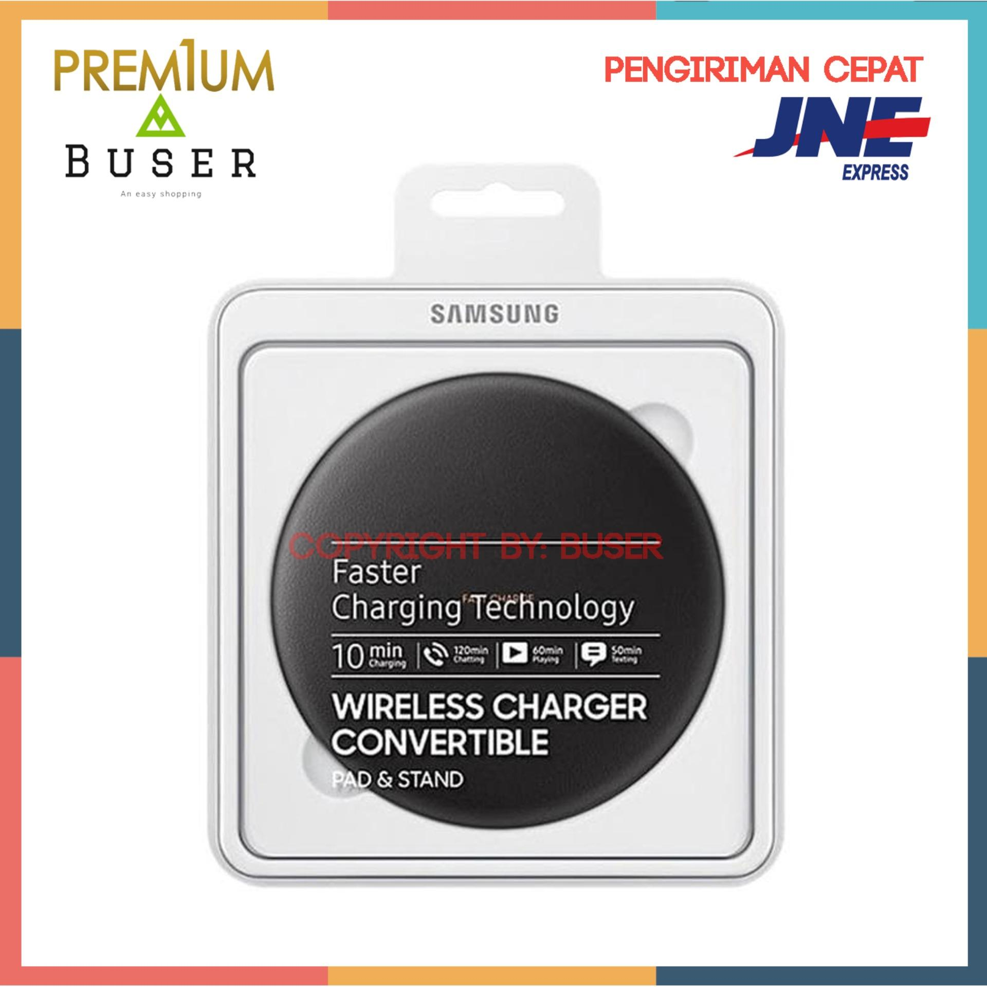 Samsung Convertible Wireless Charger Fast Charging S8 Original Hitam Idr975000