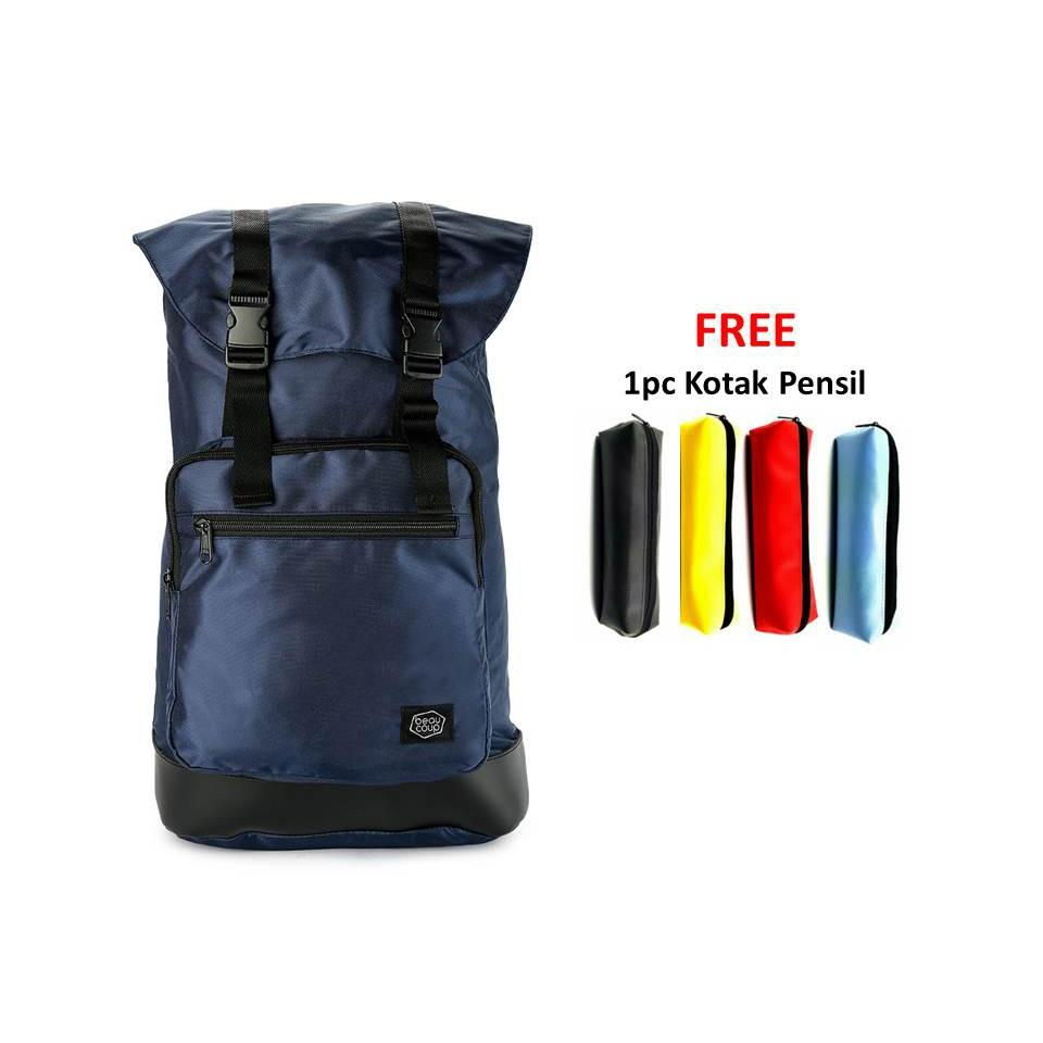 Buy Sell Cheapest Beaucoup I Casual Best Quality Product Deals Forest Tas Pria Ransel Contempo Backpack Dark Blue Get 1pc Pencil Case