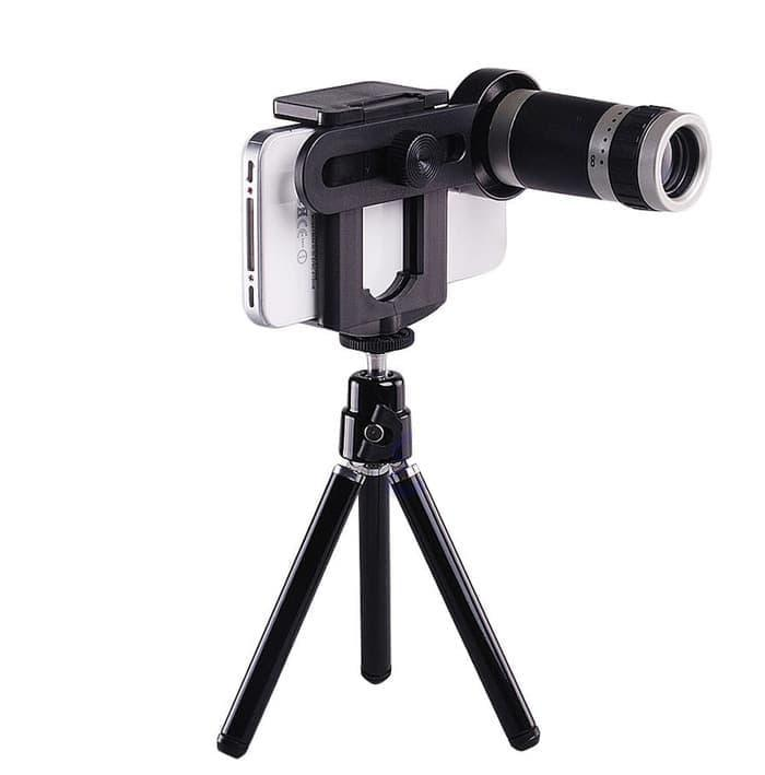 Lensa Tele Zoom 8X + Tripod Mini Untuk Smartphone FF008