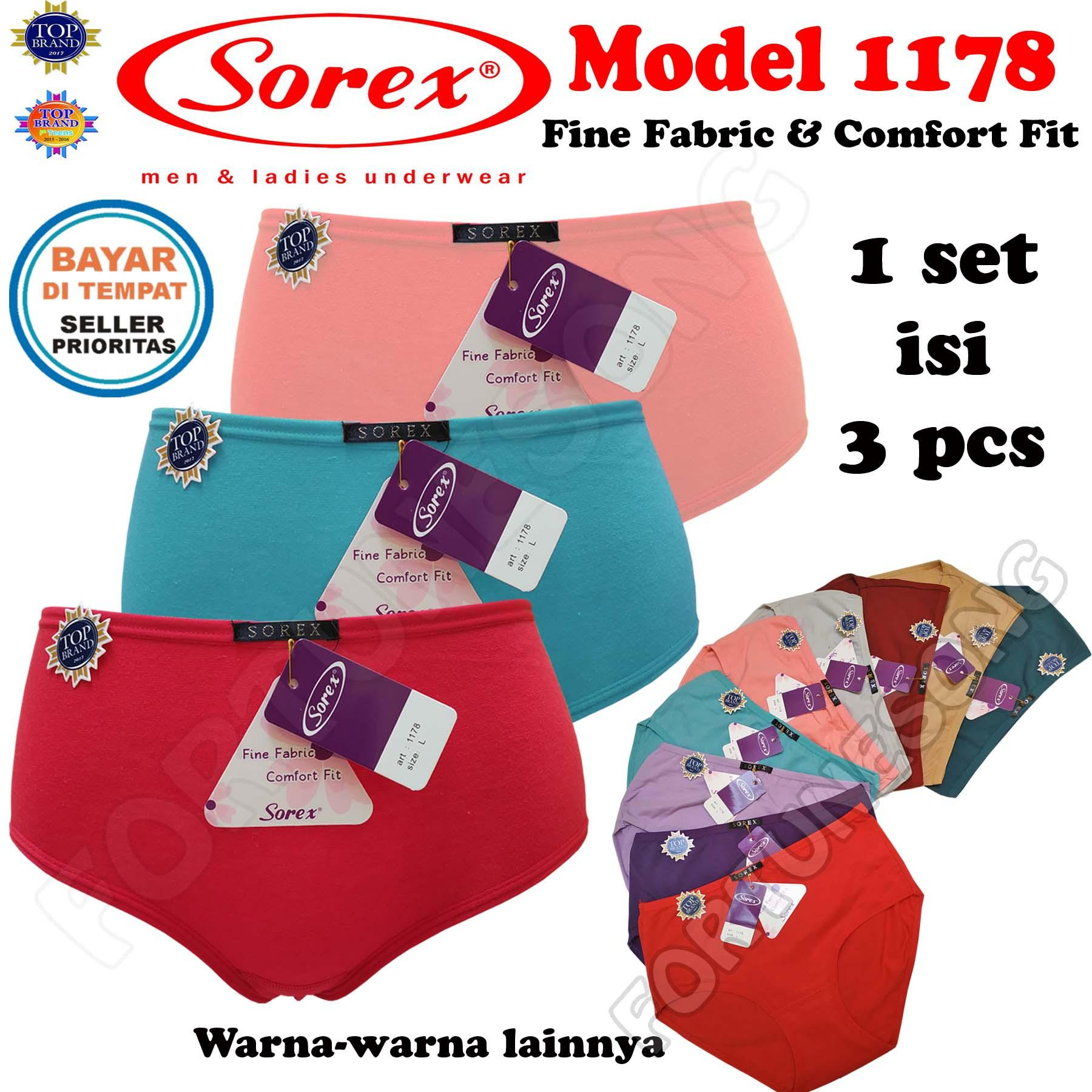 SOREX - 3 Pcs Celana Dalam Wanita Sorex 1178 Fine Fabric   Comfort FIt 964e5fbaa8