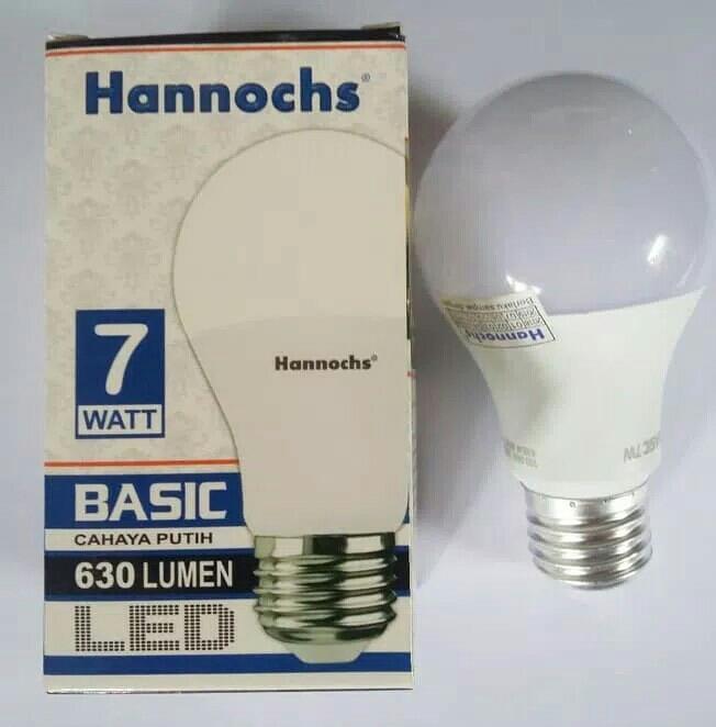 Lampu LED Hannochs Basic 7w 7 Watt Putih - Bohlam Hemat Listrik