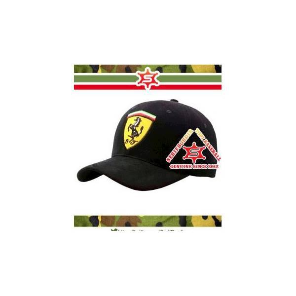 TOPI SCUDERIA FERRARI OF F1 RACING TEAM BLACK BASEBALLTOPI IMPORT BORD - HJDF