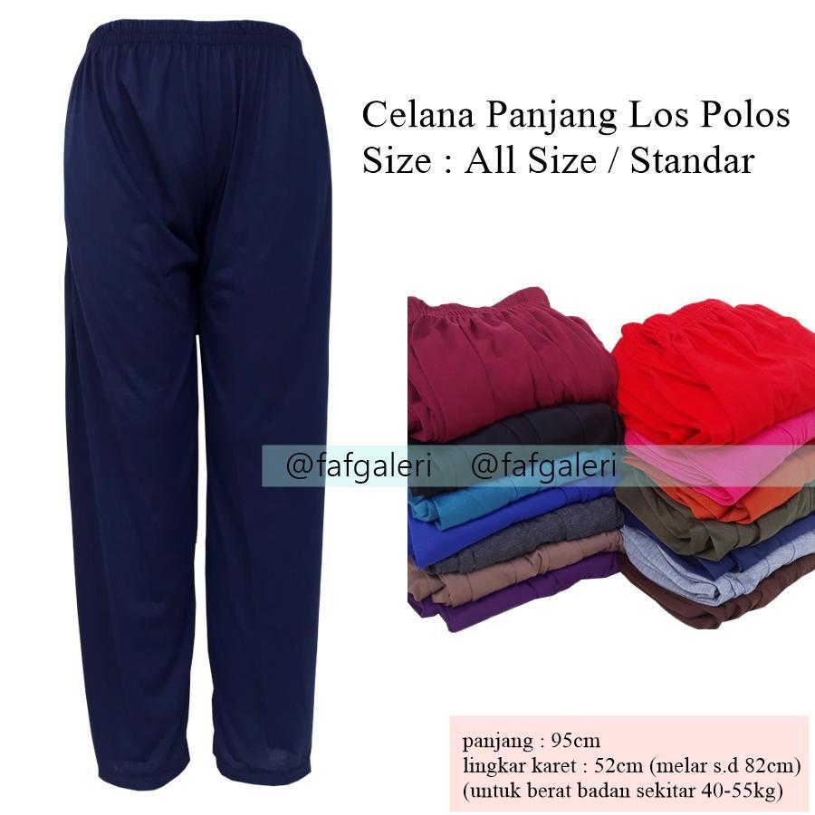 FAF Celana Panjang Los All Size - Grosir Celana Panjang Wanita Dewasa Anak Remaja Celana Dalam Gamis Baju Muslim Muslimah Hijab Dropship Reseller Baju Pakaian