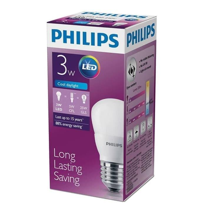 Lampu Philips Led 3 Watt Putih 3 Gratis 1