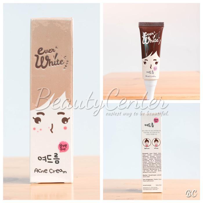 Termurah EverWhite Acne Cream/ Ever White Obat Jerawat BPOM 100% Original