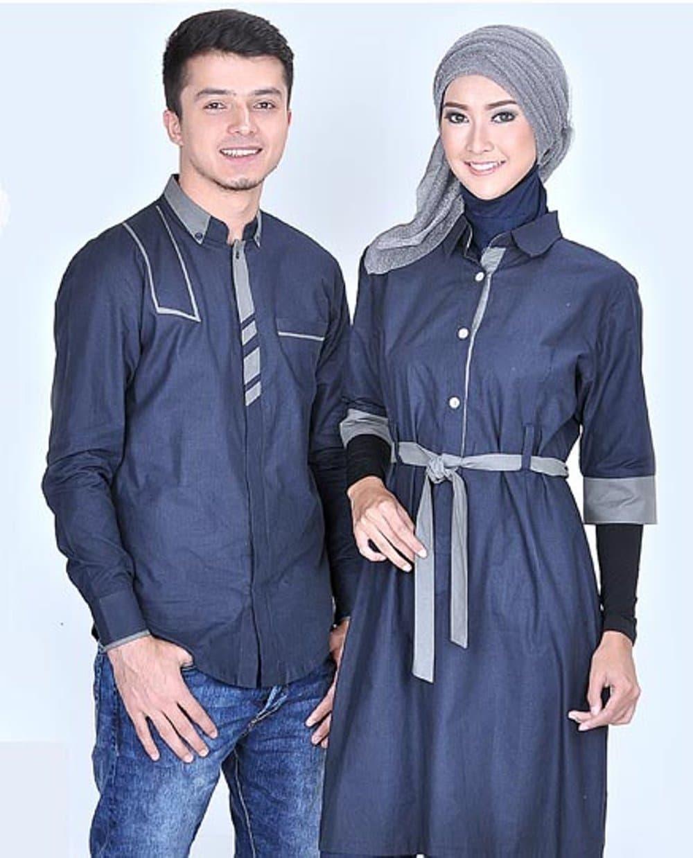 jual Baju Busana Muslim Koko Pasangan Couple Untuk Pria Wanita Terbar