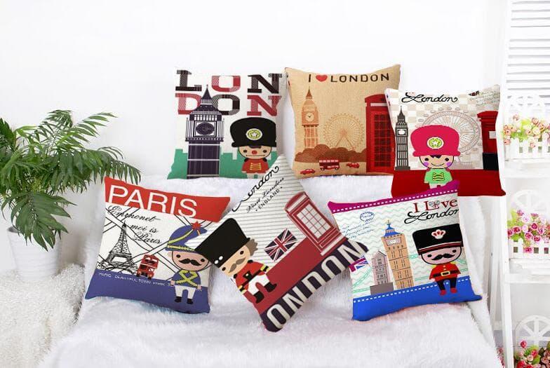 LARS - LONDON Sarung Bantal Sofa /kursi perlengkapan dekorasi rumah 40x40 cm
