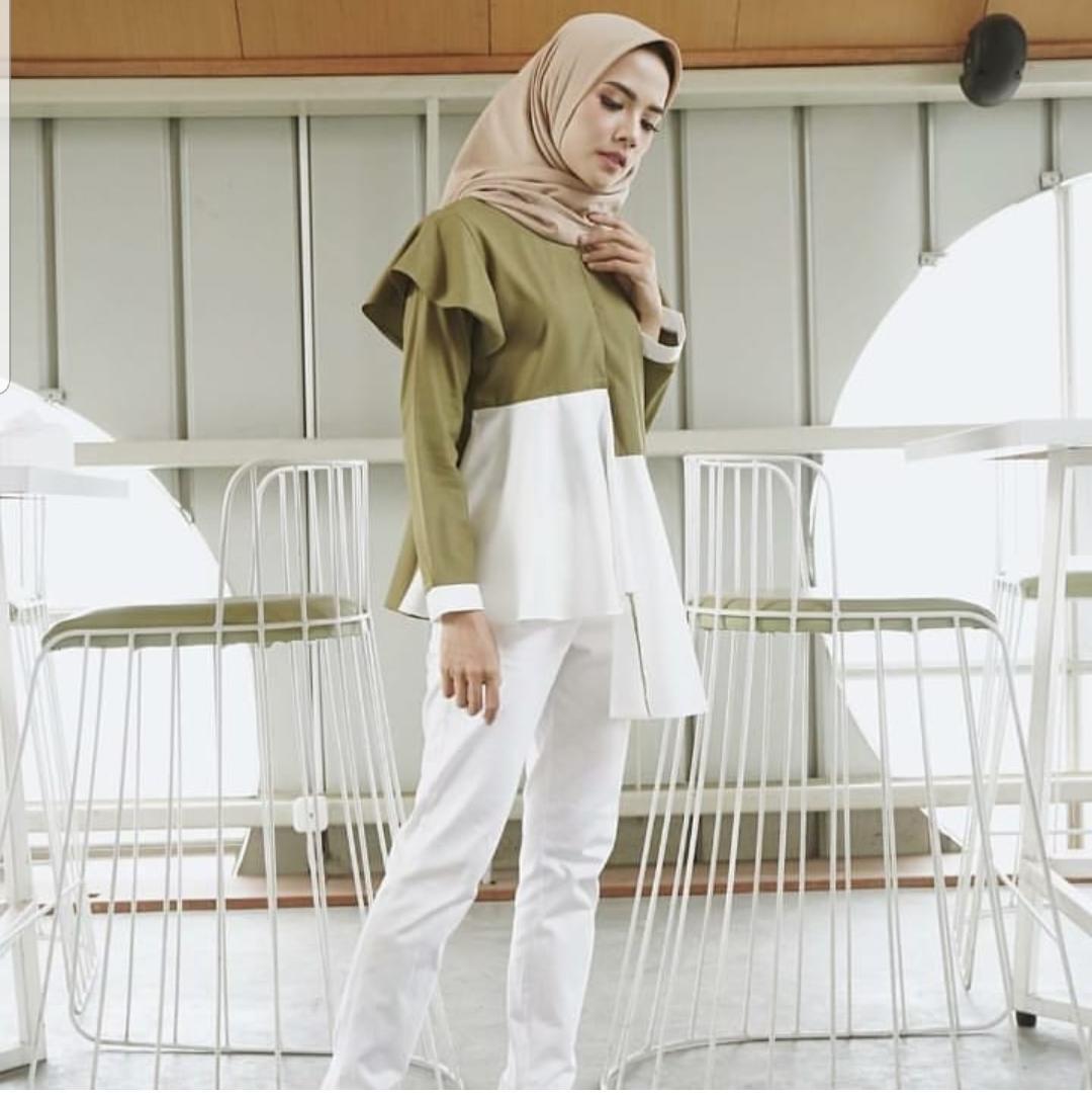 Baju Muslim Modern Blus Moo Blouse Tunik Wolfice Panjang Blouse Hijab Tunic Modern Fashion Baju Wanita