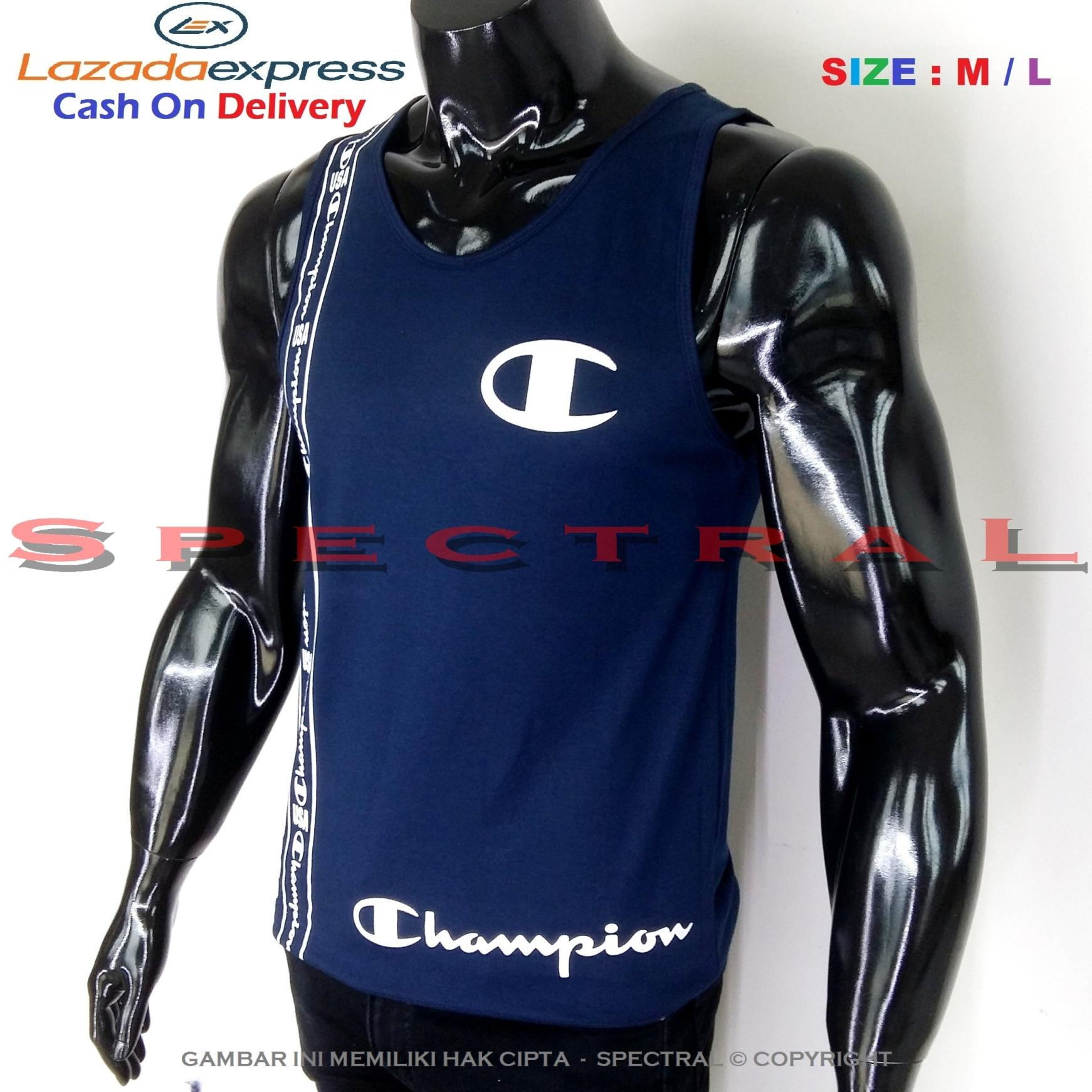 Spectral – Singlet Champion M / L Soft Cotton Combed 30s Navy Dongker