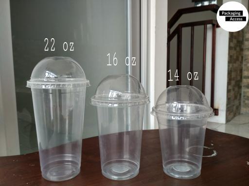 PROMO DOME LID CUP PP Tutup Cembung Gelas Plastik uk 12 14 16 22 oz ORIGINAL