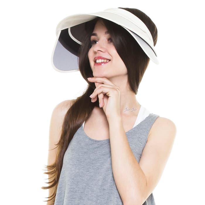D   D Hat Collection Ladies Clip On Sun Visor Hat Golf Cap Topi Golf ... ebb520cdad