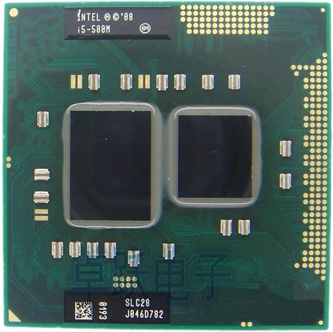 Original Intel Core i5-580M Processor Cache, 2.66GHz ~ 3.33Ghz, i5 580M PGA988 Laptop CPU Compatible HM55 PM55 HM57 QM57