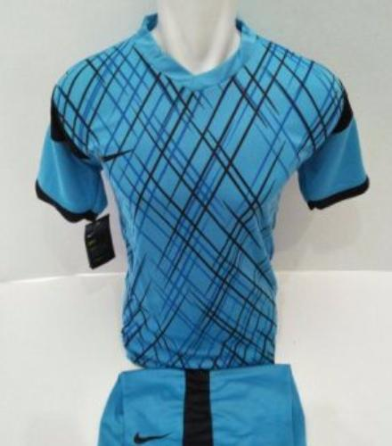 setelan olahraga kaos bola jersey futsal baju volly nike garis biru