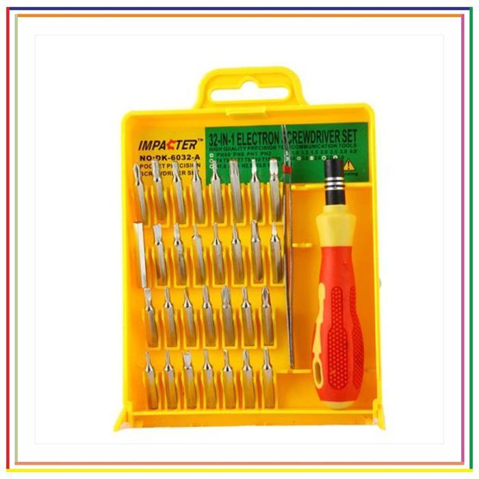 Harga Spesial!! Obeng Hp Set 32 In 1 | Obeng Set 32 In 1 Handphone Laptop Elektrik - ready stock
