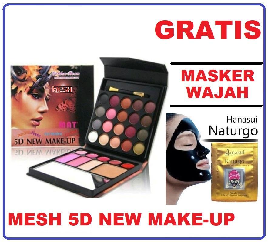 Mesh 5D New Make Up Kit All In One Eyeshadow Blush On Powder Lipstick + GRATIS Masker, Make Up