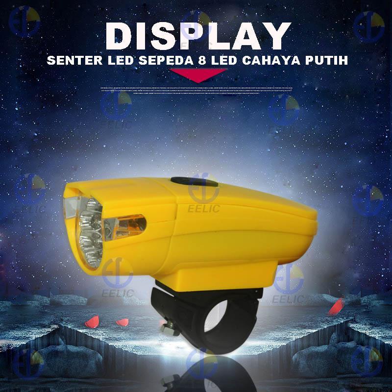 EELIC LAS-KK800 LAMPU SENTER SEPEDA 8 LED 3 MODE CAHAYA MULTIFUNGSI