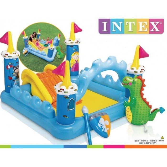 Kolam Renang Bermain Anak - Intex Fantasy Castle Play Center By Libra Toys Kingdom.