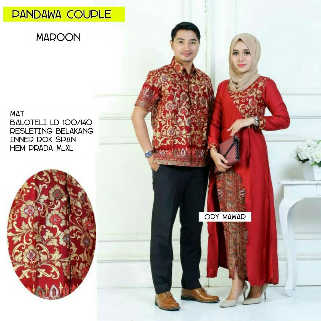 Batik couple / Batik kondangan / Batik moderen / Baju batik / Baju setelan / Batik wanita / Pakaian wanita / Pakaian muslim wanita / Batik kebaya / Batik Sarimbit Pandawa