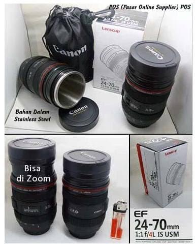 HOT SPESIAL!!! Gelas / Mug / Cup / Lensa Replika Canon 24-70mm F2.4L Zoom Stainless - e2TrPY