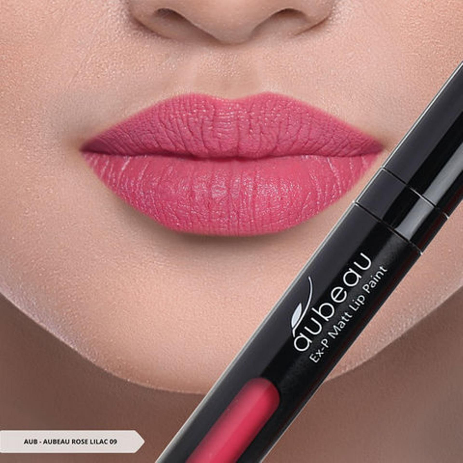 Aubeau Ex-P Matt Lip Paint (09 Rose Lilac) - Warna Pigmented Lipstick Matte