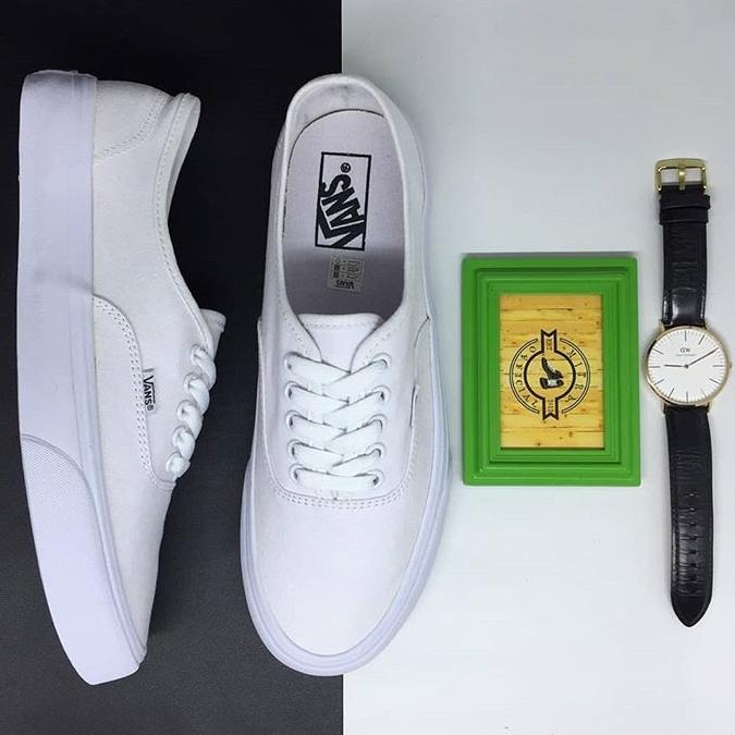 Sepatu Vans Authentic Classic Full All True White BNIB Original Premium b3387a3dd9