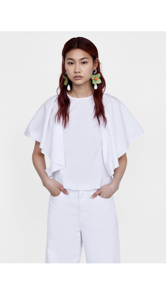 Blouse Putih Zara Original Not hnm Stradiv Balenciaga Gucci