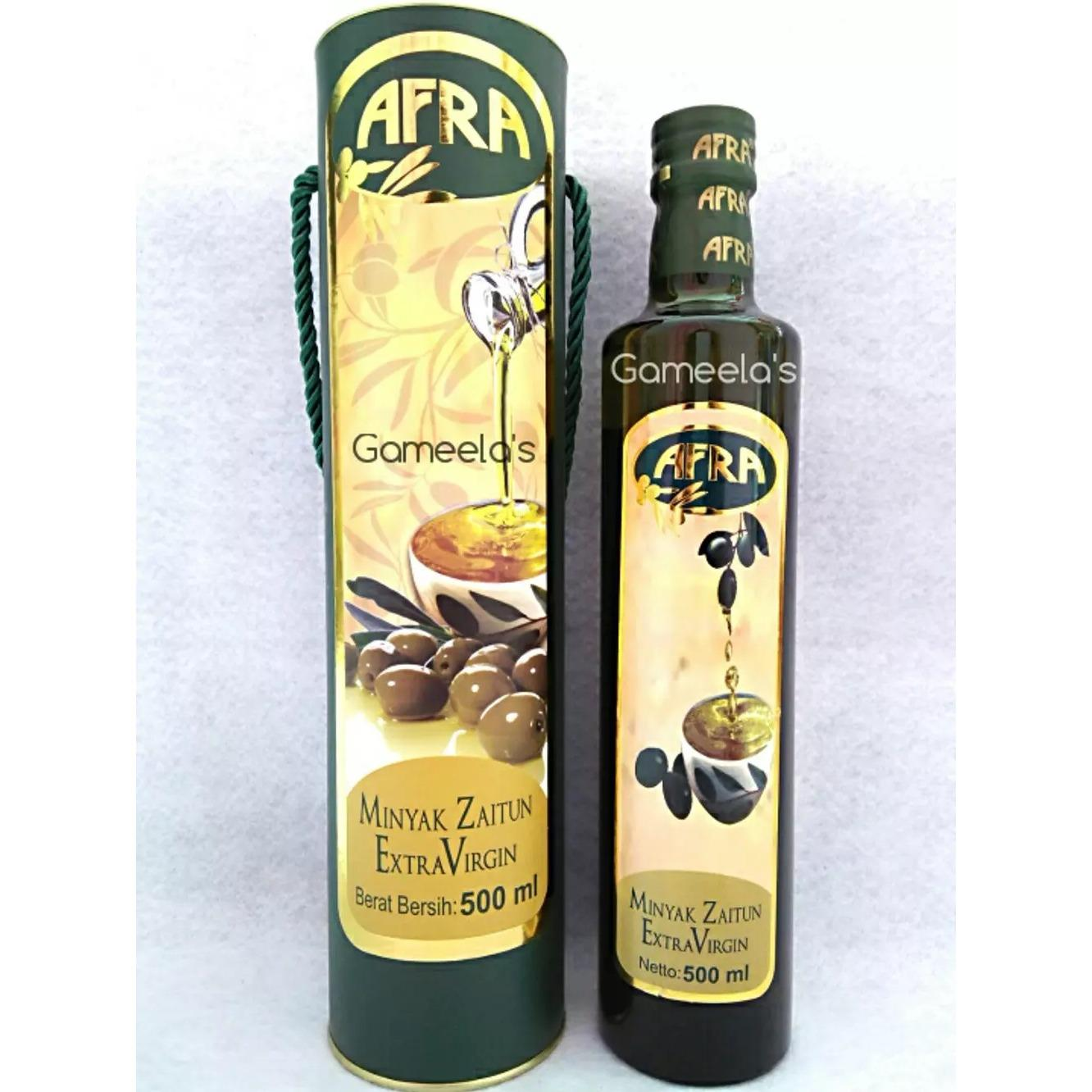 Minyak Zaitun Ekstra Virgin Afra 500 Ml Kemasan Eksklusif Extra Virgin Olive Oil EVOO