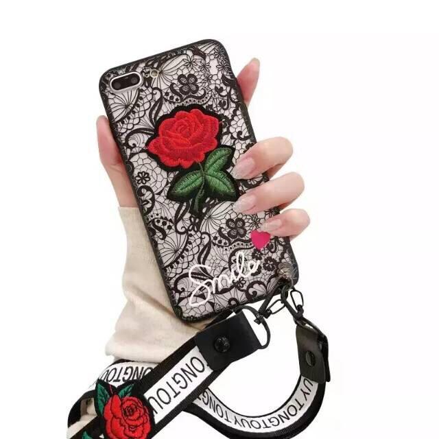 Softcase Fashion Phone Case  Flower Black Cute New Samsung Galaxy J5 Pro