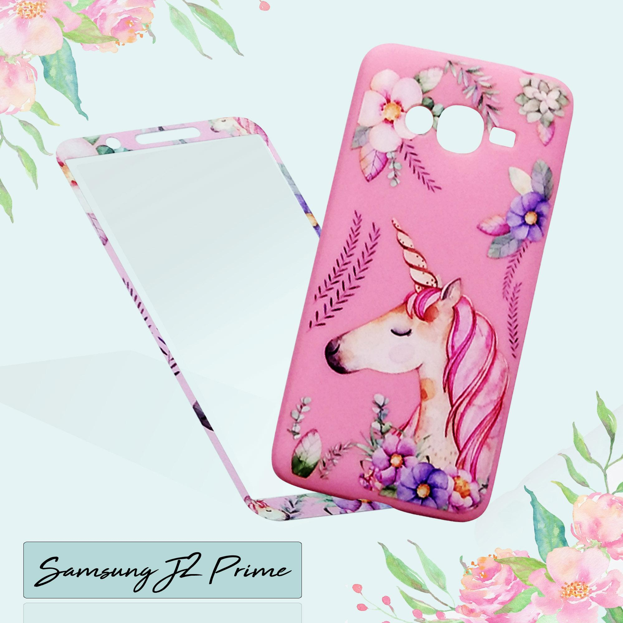 Marintri Case Samsung Galaxy J2 Prime New Unicorn Single With Tempered Glass