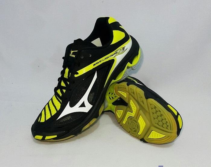 Sepatu Volly Mizuno Wave Lightning Z3 - Black  White  Bolt