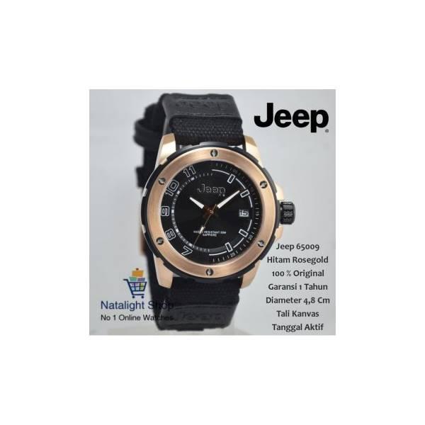 Jam Tangan Pria Jeep 65009 Kanvas Elegan Mewah 100 % Original