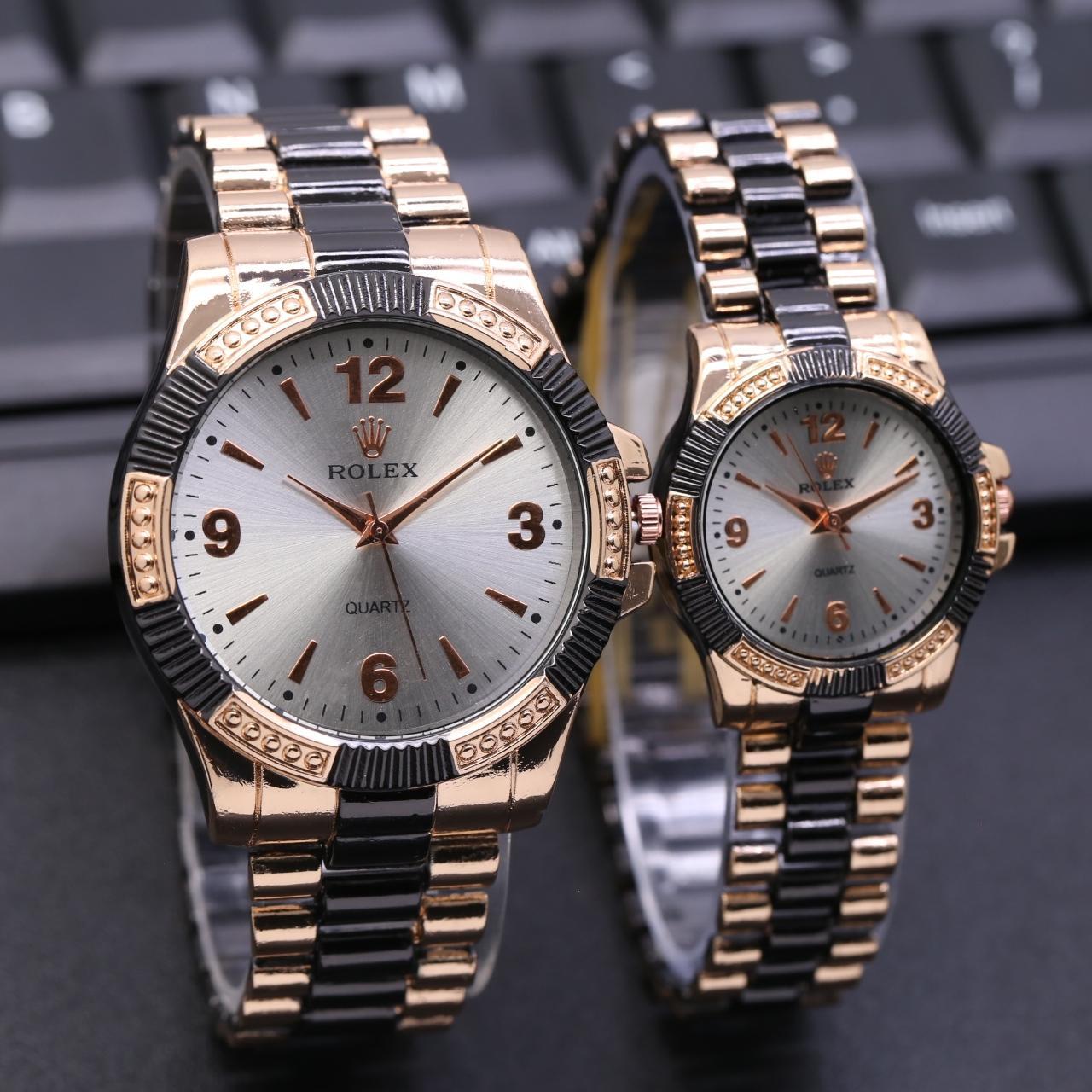 Jam Tangan Rolex Baut 91 Couple Rantai
