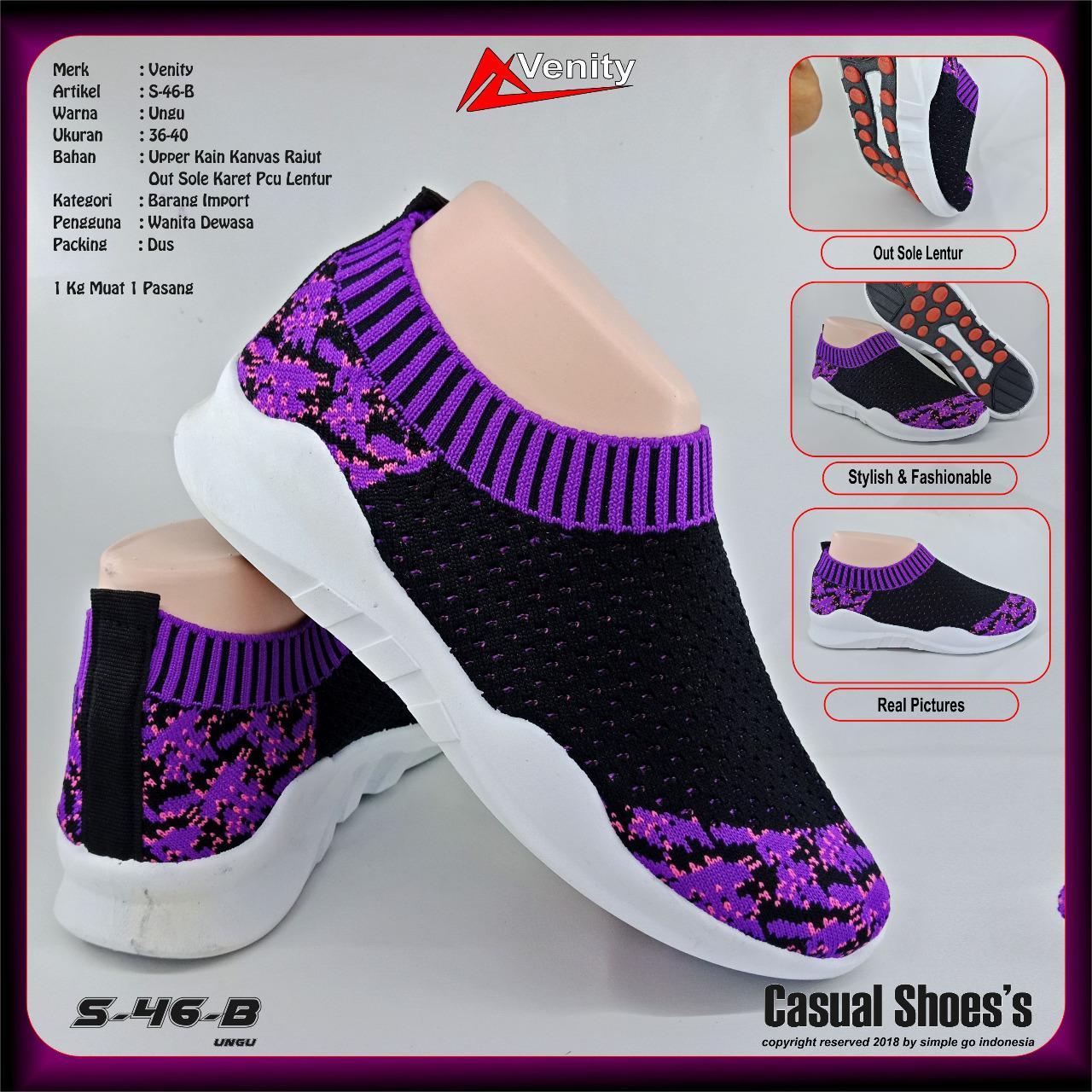 Venity s45 sepatu sneakers wanita s46 - s47 ukuran 36-40