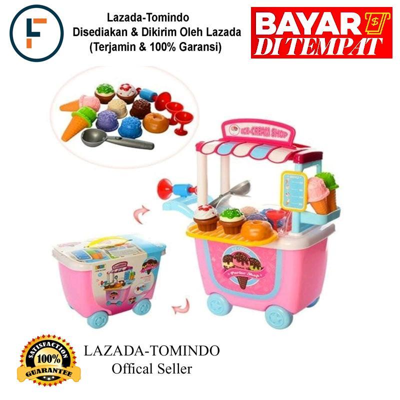 Tomindo Ice Cream Shop Trolley 8342 / mainan anak / mainan supermarket / mainan es krim / toko es krim