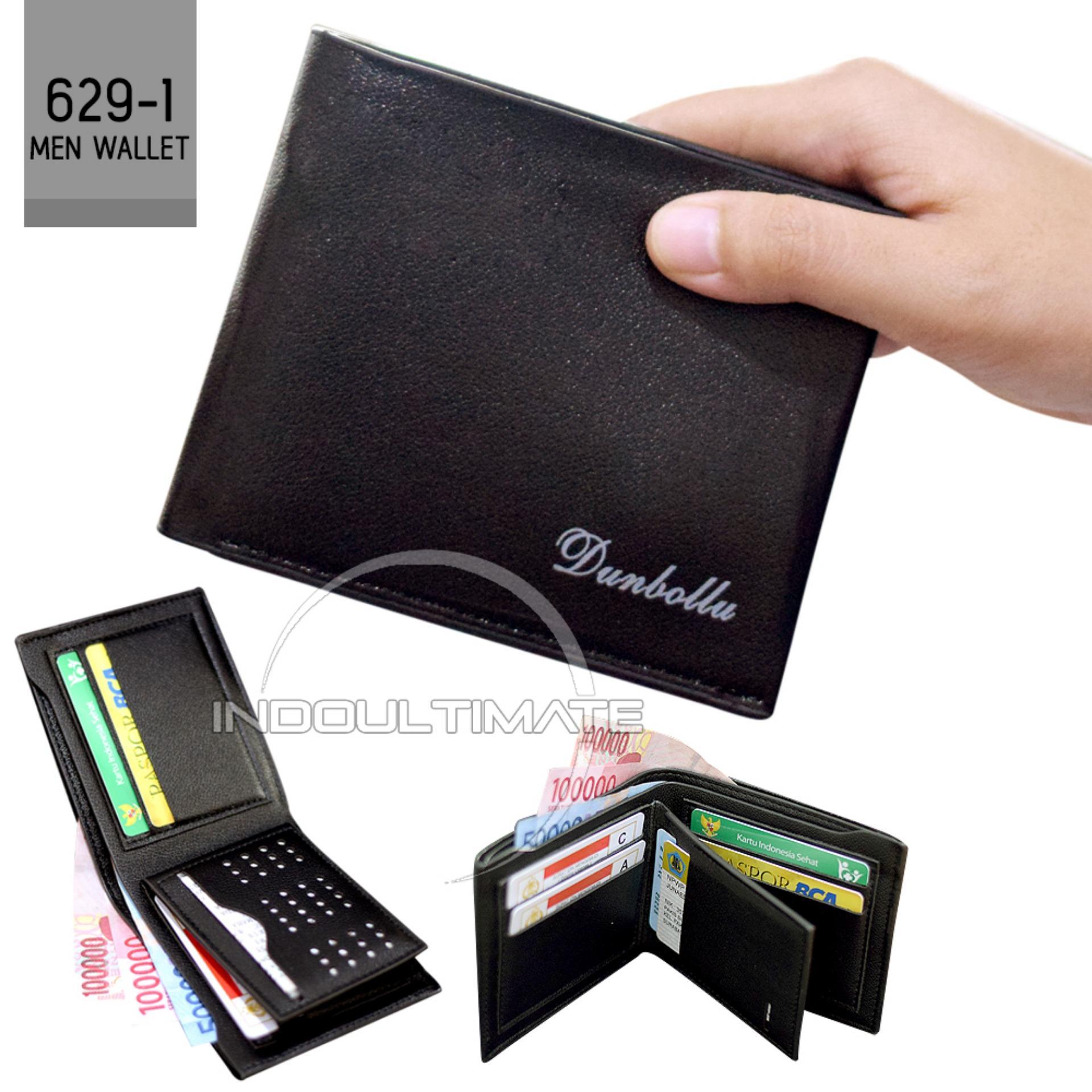 ULTIMATE DOMPET Pria FS 6291 - Black / Dompet Cowok Kulit Lipat Import Murah