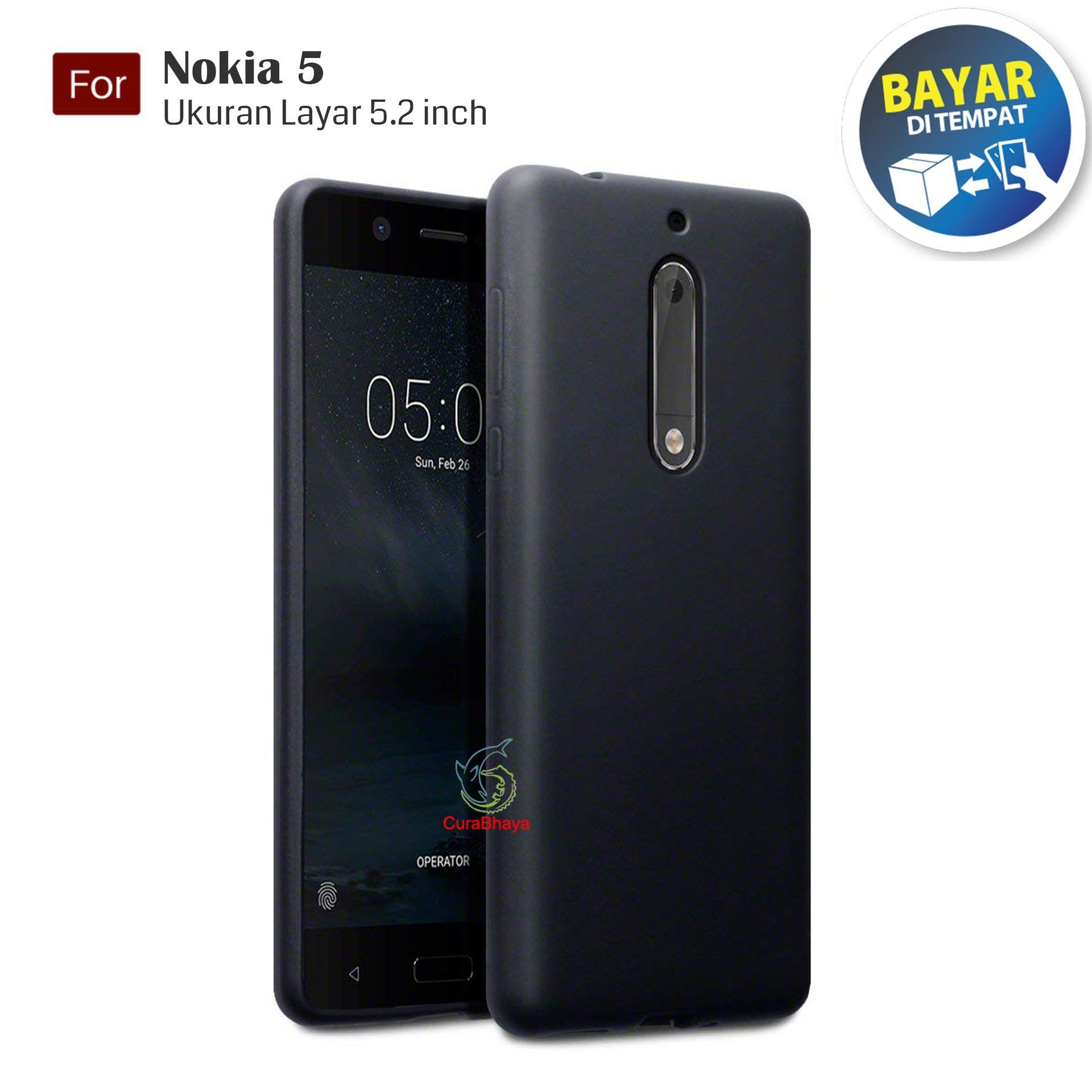 MidNight Nokia 5 | Slim Case Black Matte Softcase Premium Baby Skin - Hitam