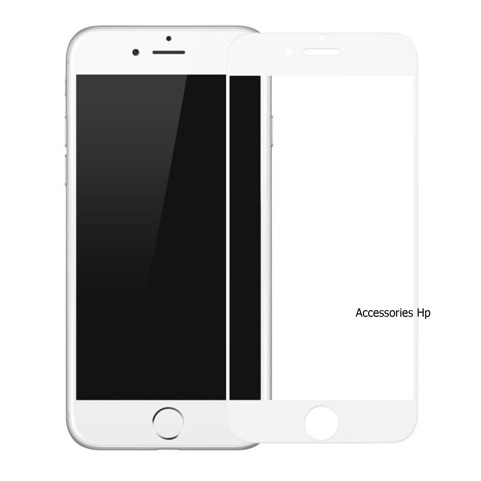 Full Cover Tempered Glass Warna Screen Protector for Apple iPhone 8 Plus 5.5 inch - White