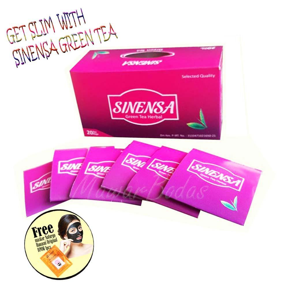 Sinensa Beauty Slim Herbal Bpom Kapsul Pelangsing Teh Green Tea Asli 1 Box Isi